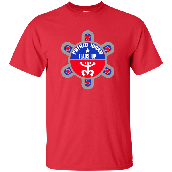 Puerto Rican Flags Up Custom Ultra Cotton T-Shirt - PR FLAGS UP