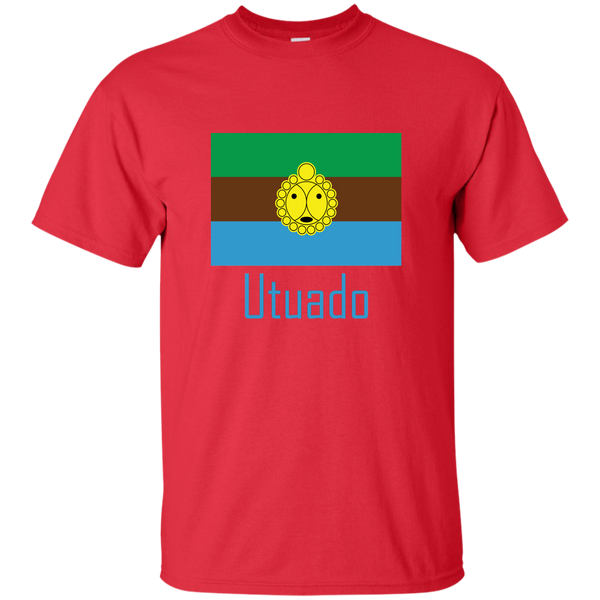 Utuado G200 Gildan Ultra Cotton T-Shirt - PR FLAGS UP