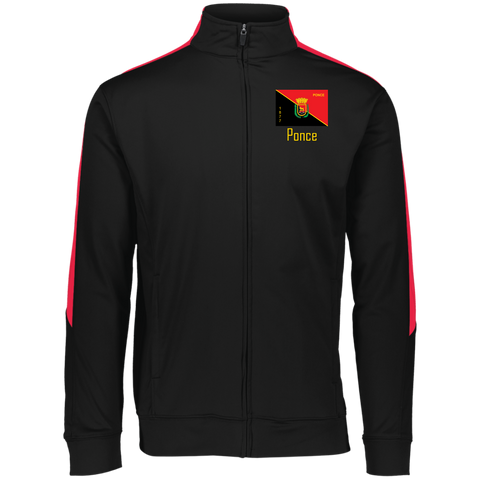 Ponce Flag 4395 Augusta Performance Colorblock Full Zip - PR FLAGS UP