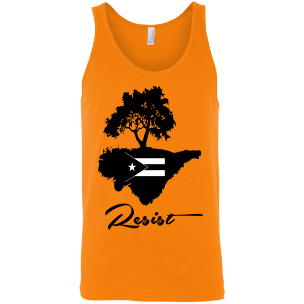 Resist 3480 Bella + Canvas Unisex Tank - PR FLAGS UP