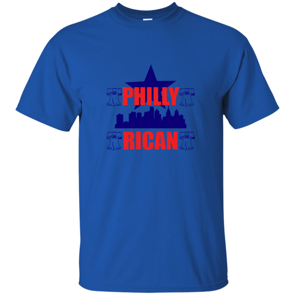 PhillyRican 2 G200 Gildan Ultra Cotton T-Shirt - PR FLAGS UP