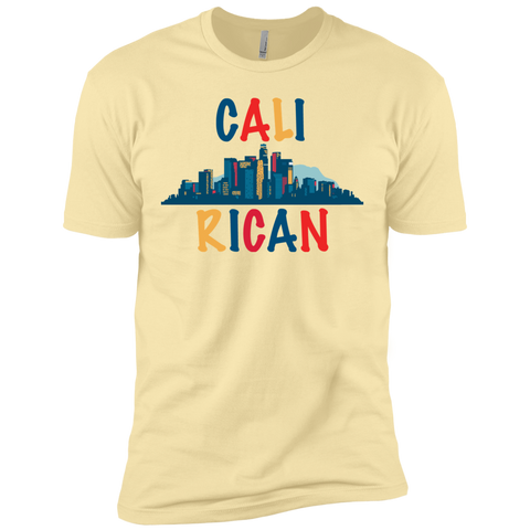 Cali Rican NL3600 Next Level Premium Short Sleeve T-Shirt - PR FLAGS UP