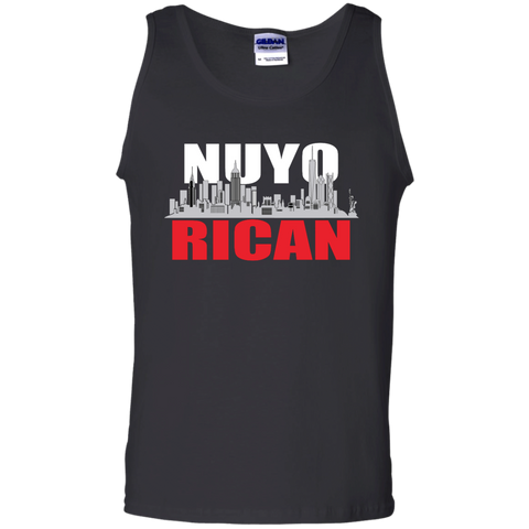 NuyoRican 100% Cotton Tank Top - PR FLAGS UP