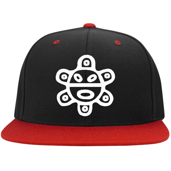 Taino Sun White STC19 Flat Bill High-Profile Snapback Hat