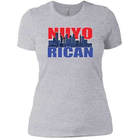 NuyoRican 2 Next Level Ladies' Boyfriend Tee - PR FLAGS UP