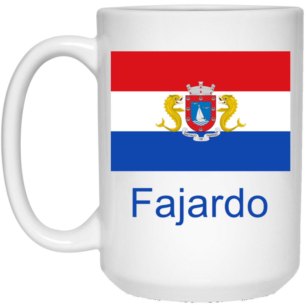 Fajardo Flag 21504 15 oz. White Mug