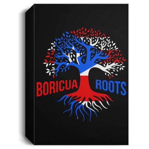 Boricua Roots Flag CANPO15 Deluxe Portrait Canvas 1.5in Frame