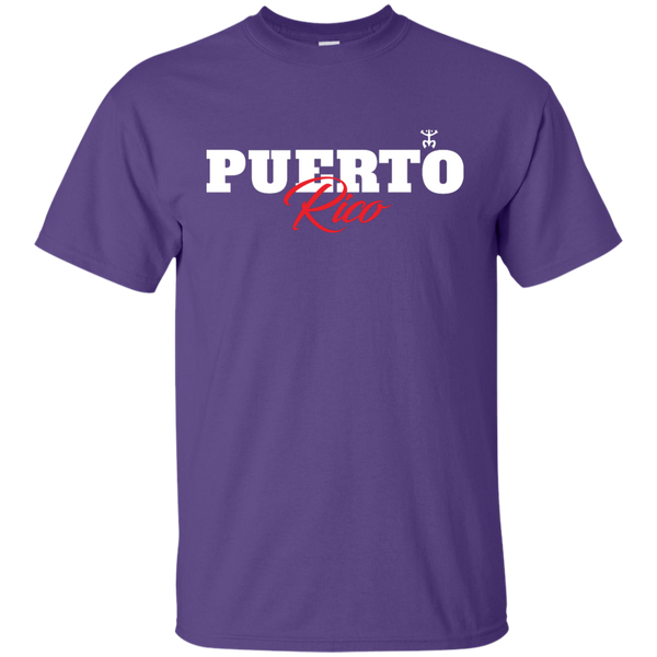 Puerto Rico Script 1 Ultra Cotton T-Shirt - PR FLAGS UP
