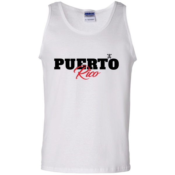 Puerto Rico Black Script 1 100% Cotton Tank Top - PR FLAGS UP