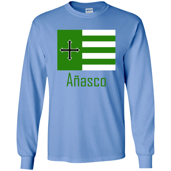Añasco Flag G240 Gildan LS Ultra Cotton T-Shirt - PR FLAGS UP