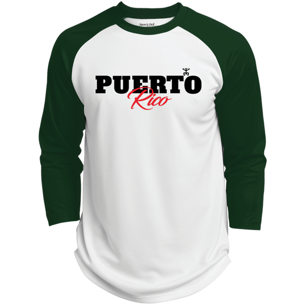Puerto Rico Black Script 1 Polyester Game Baseball Jersey - PR FLAGS UP