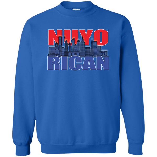 NuyoRican 2 Printed Crewneck Pullover Sweatshirt  8 oz - PR FLAGS UP
