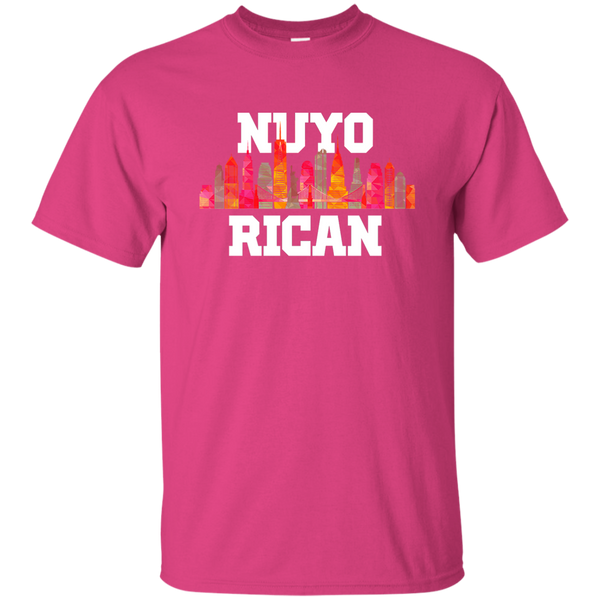 Nuyo Rican 2 G200 Gildan Ultra Cotton T-Shirt - PR FLAGS UP