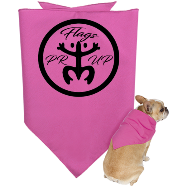 PR Flags Up Circle Logo Doggie Bandana - PR FLAGS UP