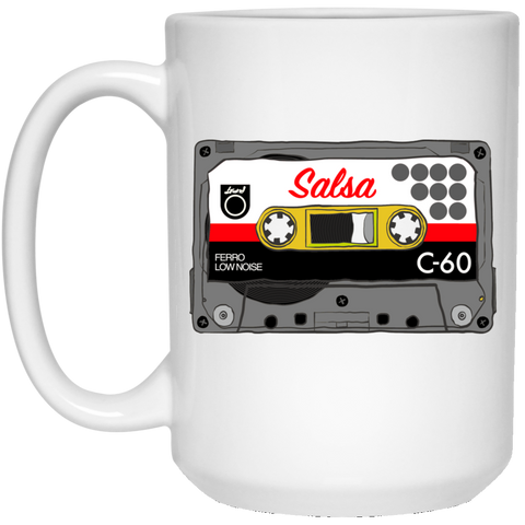 Salsa Mix Tape 21504 15 oz. White Mug