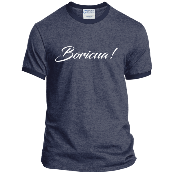 Boricua Personalized Ringer Tee - PR FLAGS UP