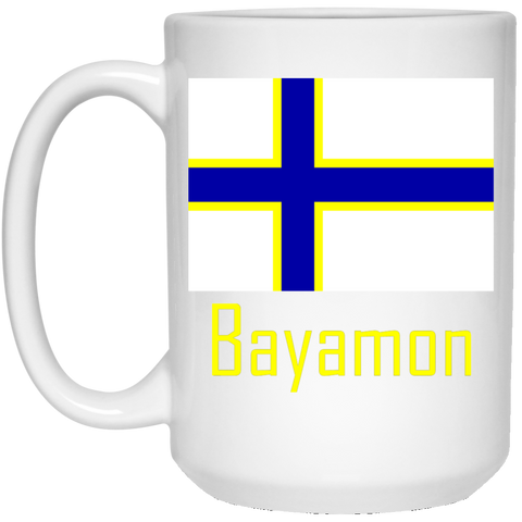 Bayamon Flag 21504 15 oz. White Mug - PR FLAGS UP