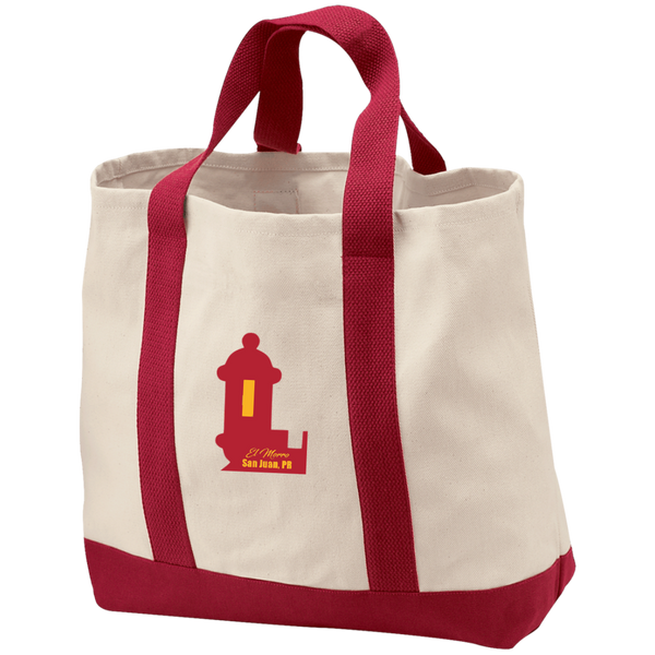 El Morro 2-Tone Shopping Tote - PR FLAGS UP