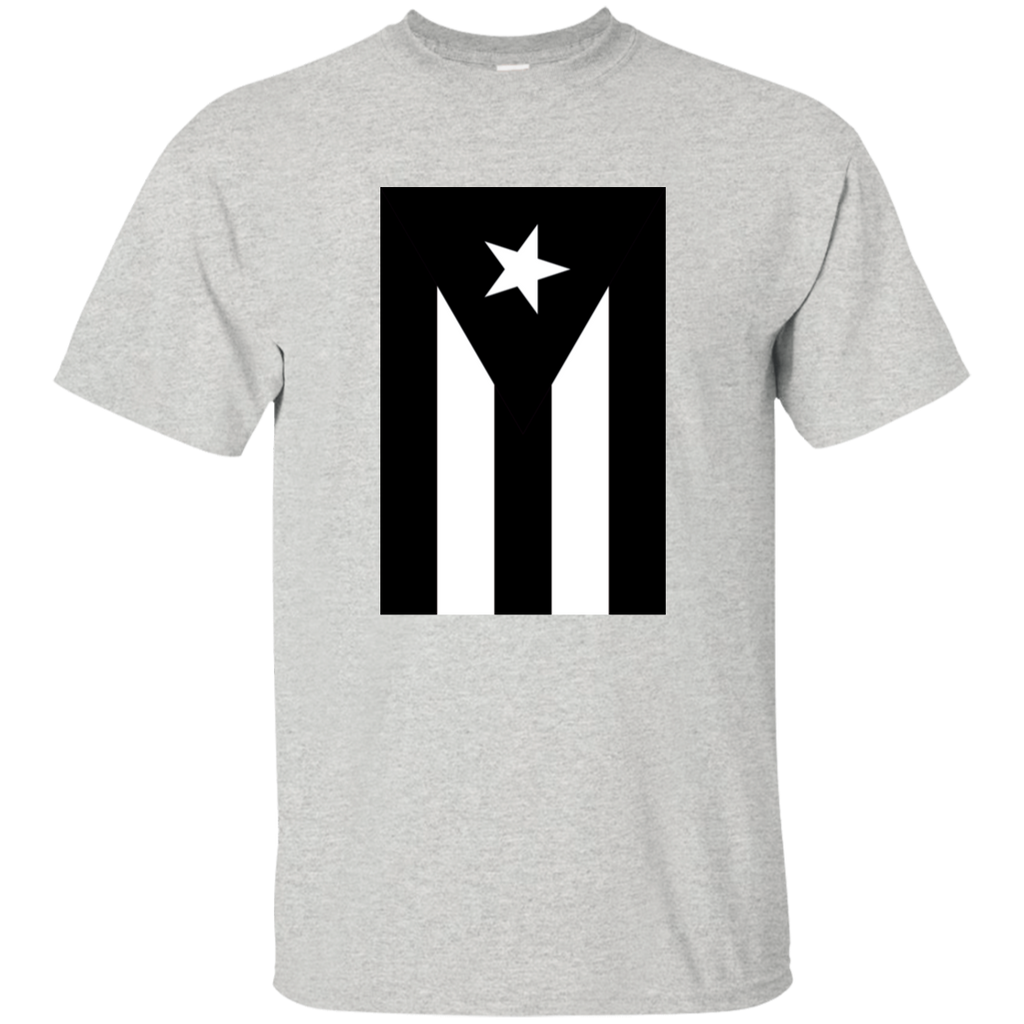 Black Flag of Puerto Rico G200 Gildan Ultra Cotton T-Shirt - PR FLAGS UP