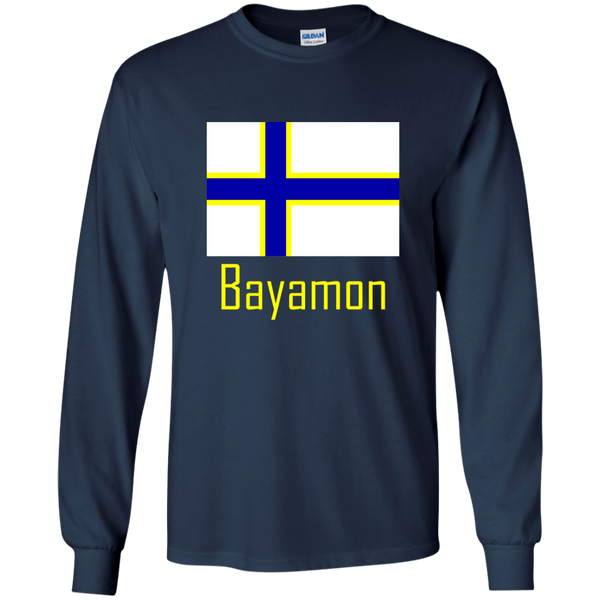 Bayamon Flag G240 Gildan LS Ultra Cotton T-Shirt - PR FLAGS UP