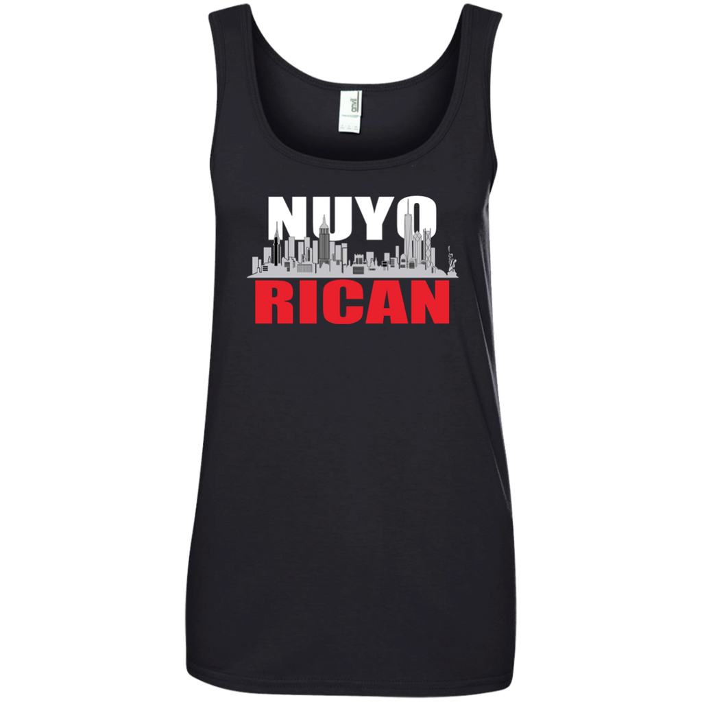 NuyoRican Ladies' 100% Ringspun Cotton Tank Top - PR FLAGS UP