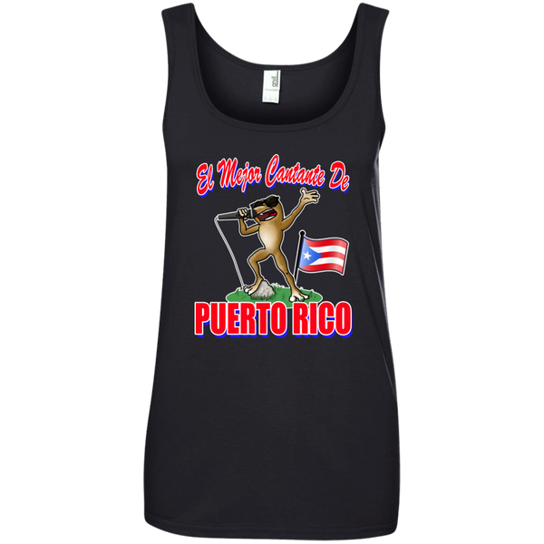 El Mejor Cantante Ladies' 100% Ringspun Cotton Tank Top - PR FLAGS UP