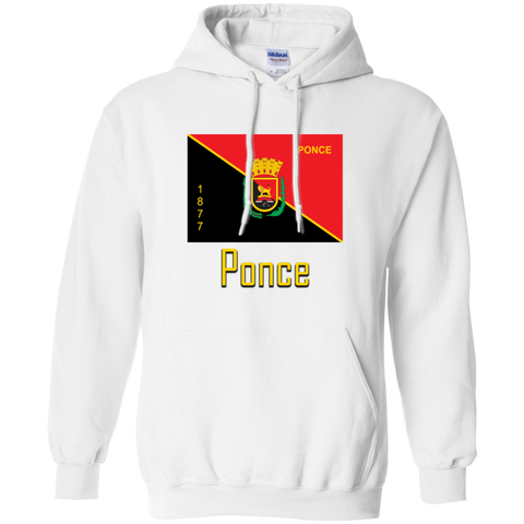 Ponce Flag G185 Gildan Pullover Hoodie 8 oz. - PR FLAGS UP