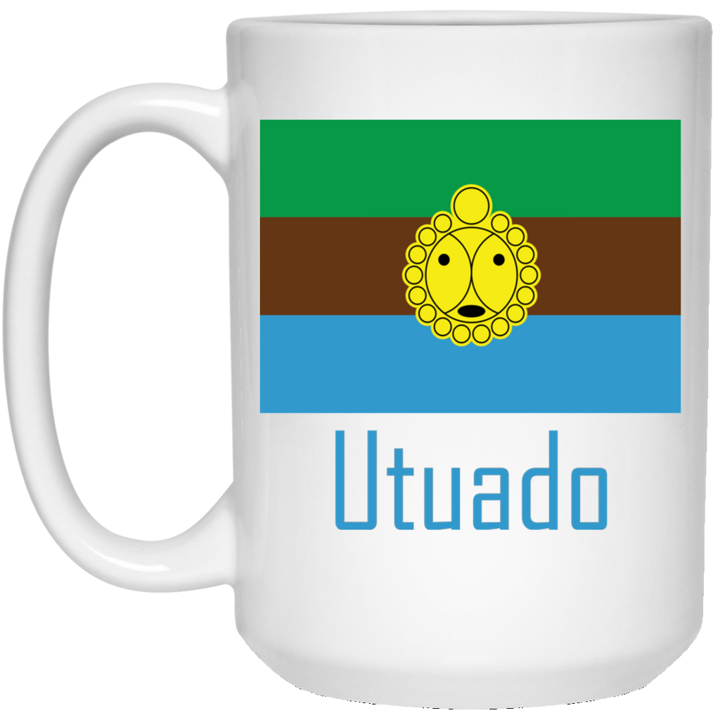 Utuado 21504 15 oz. White Mug - PR FLAGS UP