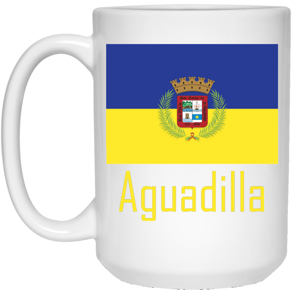 Aguadilla Flag 21504 15 oz. White Mug - PR FLAGS UP
