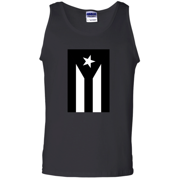 Black Flag of Puerto Rico G220 Gildan 100% Cotton Tank Top - PR FLAGS UP