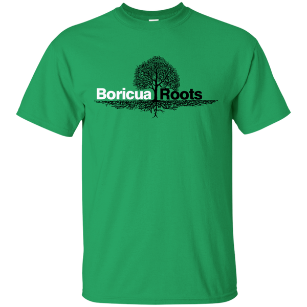 Boricua Roots Black & White Logo G200 Gildan Ultra Cotton T-Shirt - PR FLAGS UP