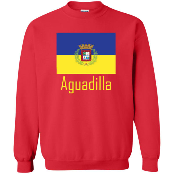 Aguadilla Flag G180 Gildan Crewneck Pullover Sweatshirt  8 oz. - PR FLAGS UP