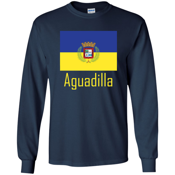 Aguadilla Flag G240 Gildan LS Ultra Cotton T-Shirt - PR FLAGS UP
