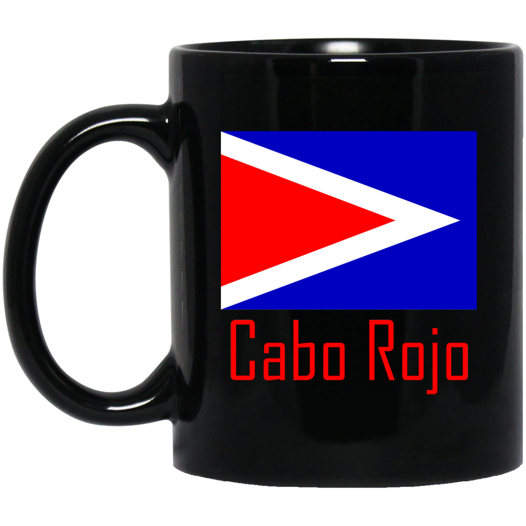 Cabo Rojo Flag BM11OZ 11 oz. Black Mug - PR FLAGS UP