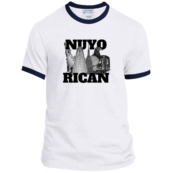 NuyoRican Elite PC54R Port & Co. Ringer Tee - PR FLAGS UP