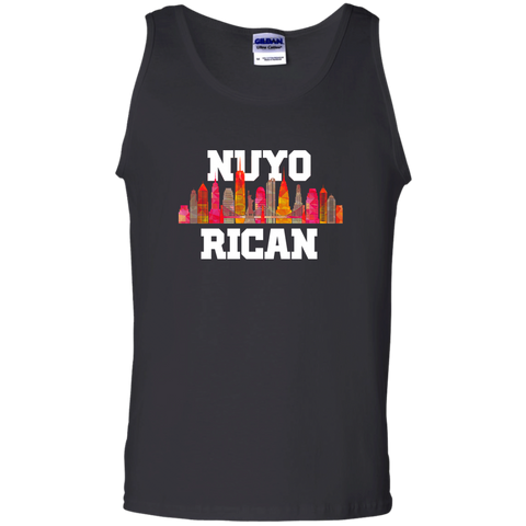 Nuyo Rican 2 G220 Gildan 100% Cotton Tank Top - PR FLAGS UP