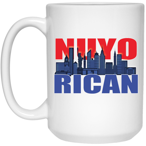 NuyoRican 2 Mug - 15oz - PR FLAGS UP