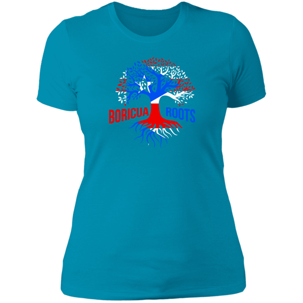 Boricua Roots Flag NL3900 Ladies' Boyfriend T-Shirt