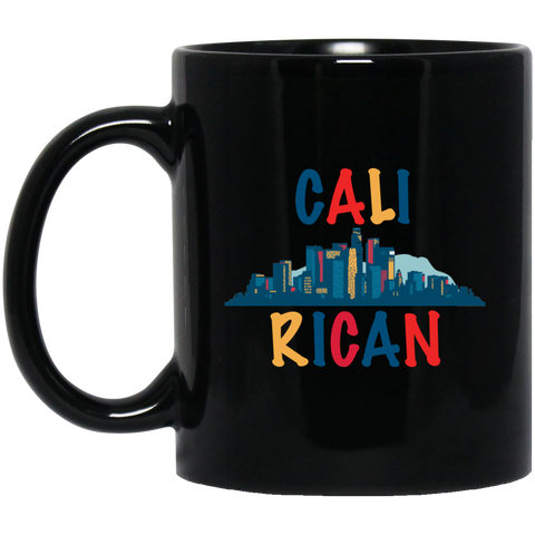 CaliRican BM11OZ 11 oz. Black Mug - PR FLAGS UP