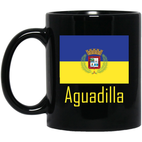 Aguadilla Flag BM11OZ 11 oz. Black Mug - PR FLAGS UP