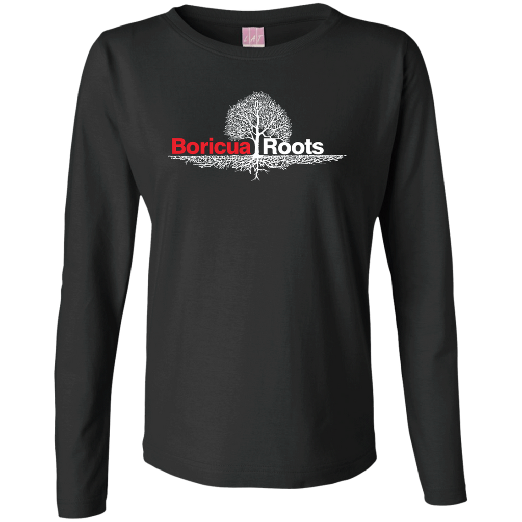 Roots Ladies Long Sleeve Cotton TShirt - PR FLAGS UP