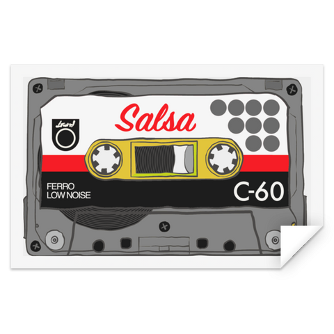Salsa Mix Tape STRE Rectangle Sticker