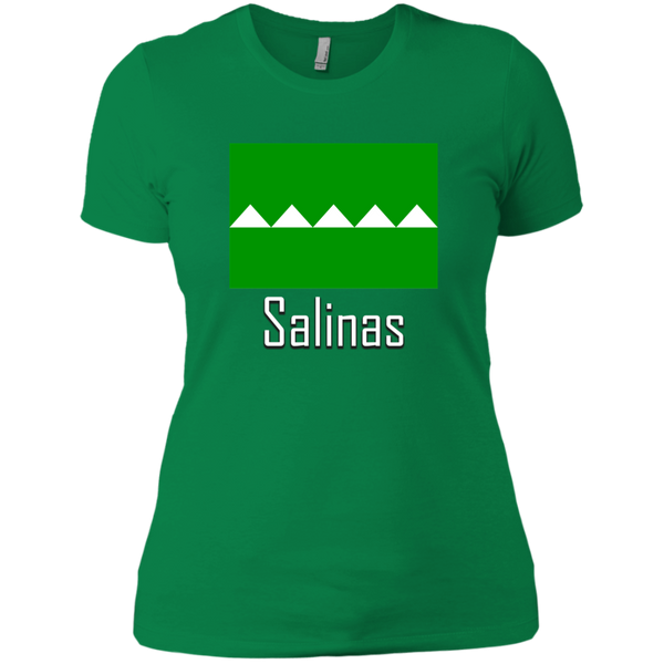 Salinas Flag NL3900 Next Level Ladies' Boyfriend T-Shirt - PR FLAGS UP