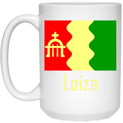 Loiza Flag 21504 15 oz. White Mug - PR FLAGS UP