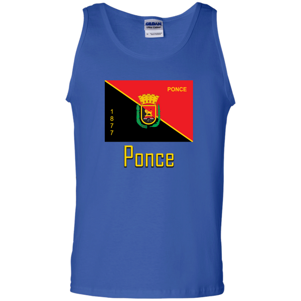 Ponce Flag G220 Gildan 100% Cotton Tank Top - PR FLAGS UP