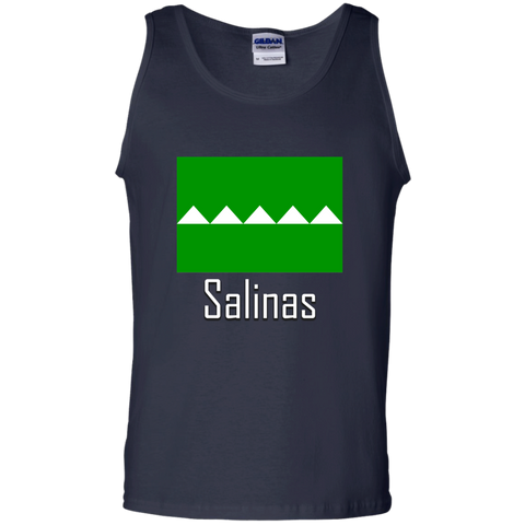 Salinas Flag G220 Gildan 100% Cotton Tank Top - PR FLAGS UP