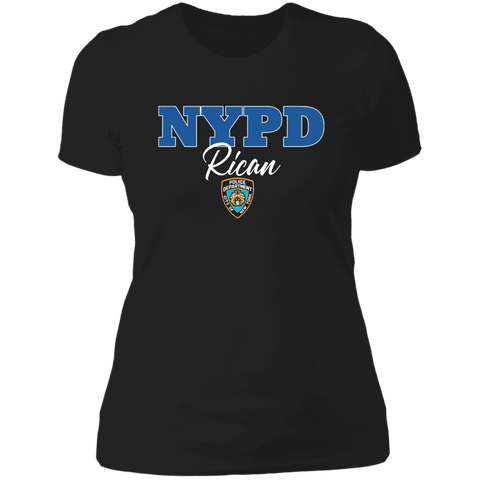 NYPD Rican NL3900 Next Level Ladies' Boyfriend T-Shirt
