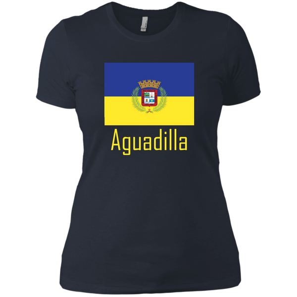 Aguadilla Flag NL3900 Next Level Ladies' Boyfriend T-Shirt - PR FLAGS UP