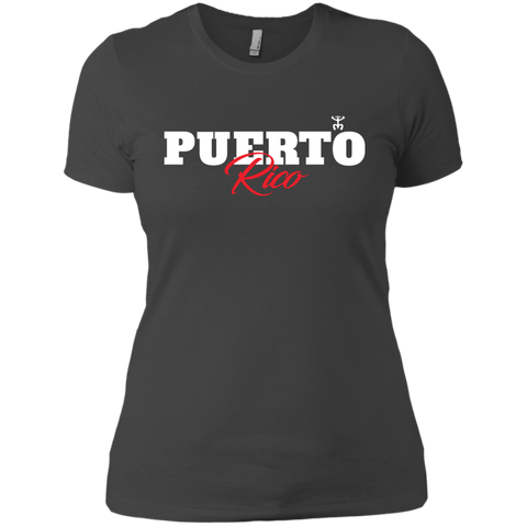Puerto Rico Script 1 Next Level Ladies' Boyfriend Tee - PR FLAGS UP