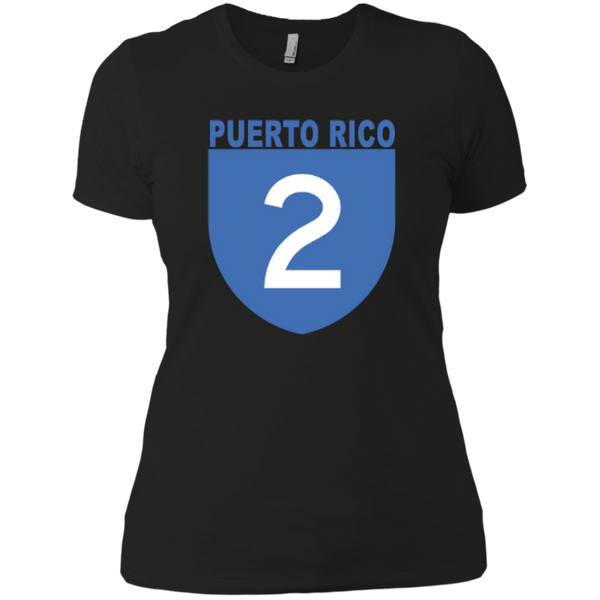 La Numero 2 NL3900 Next Level Ladies' Boyfriend T-Shirt - PR FLAGS UP